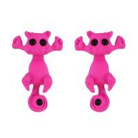 Boucles d'oreilles de crevaison de chat de chat de la fille pour femmes Crystal alliage de cristal Cats Nouveaux studs de boucle d'oreille de la mode 212 Q2