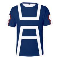 Benim Kahraman Academia Erkek T-Shirt Midoriya Izuku 3D Baskı Tshirt Okul Koleji Tarzı Boku Yok Çocuk T Gömlek Tops