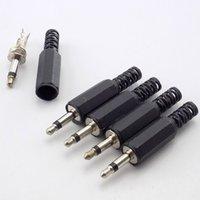 BNC Connector3.5mm RCA-Stecker 2 Pole Mono Stereo Video Dual Audio männlich Adapter Wire Stecker für Kopfhörerbuchse