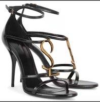 Con caja! Clásico de alta calidad tacones de estilete sandalias tacón de moda zapatos de mujer zapato zapato zapato 10 01