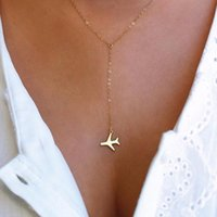 قلادة القلائد الذهب طائرة المختنق قلادة للنساء طائرة سحر الطائرات سلسلة الطبقات الصغيرة مجوهرات داين