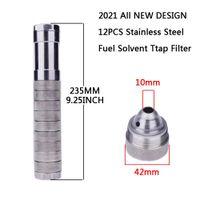 """الفولاذ المقاوم للصدأ المذيبات مصيدة 9.25 بوصة فلتر الوقود سيارة 10MM الجزء 1/2 """"x28 5/8"""" x24 ل napa 4003 wix 24003"""
