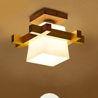 Ceiling Lights Simple LED Solid Wood Light Modern Corridor Porch Small Balcony Lamp Japanese Tatami Living Rrom Log Lamps