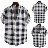 Men's Casual Shirts 2021 Summer Fashion Plaid Shirt Men Social Business Male Top Quality Short Sleeve Mens Comfortable