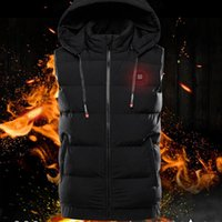 Fashion Intelligent Temperature Control Heating Vest USB Charging Electric Vests Waterproof Men's