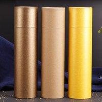 3 colores 250 gramos Tubo de papel de perfume grande Packaging Joss Stick Conveniente Llevar Papel Kraft Tubo de incienso Dar la caja FWD9435