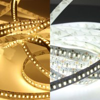 Strips DC12V LED Strip 204leds M With DC Connector Super Bright Non-Waterproof Tape Light White Warm White Color 5M lot