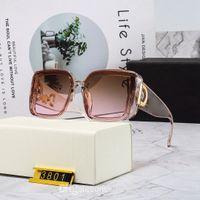 2021 el nuevo diseño de gafas de sol de lujo polarizadas de lujo polarizadas para hombres Mujeres Piloto Sun UV400 gafas gafas marco de metal 2244 Lente polaroid de gafas con caja