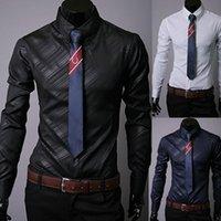 Camicie casual da uomo Boutique coreano tessuto importato tessuto scuro twill twill shirt camicia a maniche lunghe ufficio Slim Design Calendario processo M-XXXL