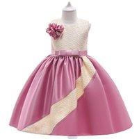 Girls Dresses Kids Clothes Childrens Sleeveless Princess Skirt Flower Party Formal Pageant Dress Birthday B7232