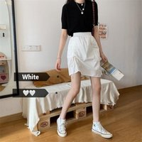 Version of Korean Dongda 2020 Suer Dress New High Waist Rubber Band Front Drawstring Short with Buttocks and A-line SkirtHNL2