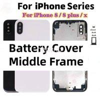 Geri Cam iPhone X 8G 8 Artı Arka Konut CE Metin ile Orta Çerçeve
