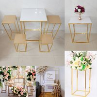 Wedding Decoration Plinth Column Table With Acrylic Trays Flower Holder For Party Dessert Fruit Birthday Cake Cupcake Foods Stage Backdrops Crafts Display Rack