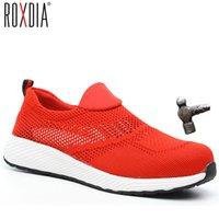 Boot Roxdia Brand Summer Lightweight Steel Nose Men Women's Work Safety Laarzen Breathing Male Shoes Plus Size 36 46 RXM120 0802