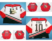 Fertigen Sie Qmjhl Halifax Mooseheads Mens Womens Kids 10 Dean Stock 22 Nathan Mackinnon Hockey Günstige Trikots Tor Wirbelt White Red Trikots