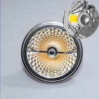 المصابيح AR111 LED مصباح 15W استبدال 75W الهالوجين G53 GU10 12V / 85-265V، CREE COB أضواء كاشفة 80RA CE بنفايات، QR111 ES111 لمبة مجانية شيب