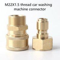 Watering Equipments Brass High Pressure Car Washer Machine Adapter Water Gun Quick Connector M22 Thread Faucet Garden Hose