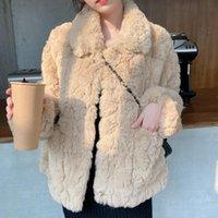 Coat Women Khaki Faux Lamb Fur Teddy Jacket Warm Thick Winter Fashion Short Woman Harajuku Plus Size Outerwear Women's &
