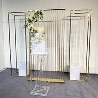 3PCS Luxury Wedding Decoration Billboard Column Stand Iron Screen Partition Plinth Frame Flowers Arch Balloon Birthday Party Stage Wall welcome Backdrops Props