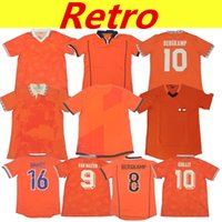 Rétro Pays-Bas Soccer Jerseys 1997 1988 1991 1995 1996 1998 2002 2002 2014Voebal Tenues Van Basten 12 TrainingSpak Dutch Holland Kits de football 98