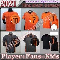 Memphis 2021 Holanda Versão Versão Ventilador Edição de Futebol Jerseys de Jong Holland Stotman Van Dijk Virgil 2022 Futebol Jersey Adulto Men + Kids Kit