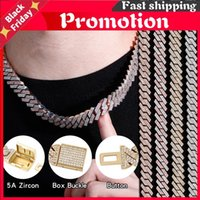 Chains Topgrillz 12mm 14mm Iced Micro Pave Cubic Zirconia Cuban Chain Necklace With Box Clasp Hop Fashion Jewelry Gift Men Women