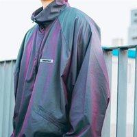 New Fw Fog Men Women 1:1 High Quality Windbreaker Half Zipper Colorful Ribbon Essentials Jacket A4uz xwl