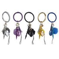 Safe Sound Son Personal Security Alarm Keychain Circle en cuir PUL Tassel Pompon Pendentif Bracelet Bracelet Bracelet suspendu KeyRing X6He