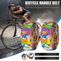Componentes de la manillar de la bicicleta Un par de manillar de la bicicleta que no se absorbe la cinta de la cinta de la cinta del camuflaje con las bicicletas de la barra de 9 colores Cycli