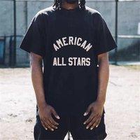 2021 USA Spring Verano 7th Arc Flocking Logo Button T Shirt Foot Street American All Stars Hombres Mujeres Cotton TEE TSHIRT