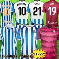 Real Sociedad 2021 2022 X.PRIETO J.ZALDUA AGIRRETXE Accueil Maillot de foot CARLOS V. GRANERO M.BERGARA JUANMI 21 22 shirt de football camiseta de futbol