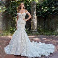 Boat Neck Neckline Luxury lace Embroidery Mermaid Bride Wedding Dress Bridal Gown Sexy backless Robe