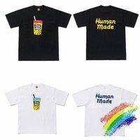 Camiseta A impressão do chá do leite da pérola fez a camisa de t camisa dos homens Mulheres do verão T-shirt ocasional da forma