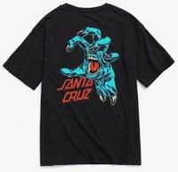 Мужчины повседневные хлопковые руки обратно печатные скейтборд футболки городской уличный стиль высочайшего качества мужская футболка женщины TX37036