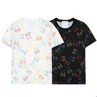 2021 Tops 100% Pamuk Erkek Gömlek Hassas Baskı Renkli Ayı Designe Bayan T-Shirt Plaj Tanışma Adam T Gömlek Boyutu S-XXL