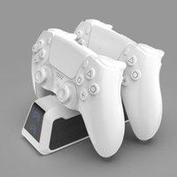 핸들 데스크탑 스토리지 랙 PS5 컨트롤러 충전기 충전 스탠드는 USB 케이블로 2 게임 콘솔을 충전 할 수 있습니다 # G30 Gamepad 컨트롤러 기쁨 없음