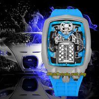 Eternity Relógios Os mais recentes Produtos Super Running 16 Cilindro Motor Dial Epic X Chrono Cal.v16 Mens automático Assista 316L Caso de aço inoxidável Caixa de borracha alta qualidade