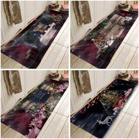 Carpets Christmas Doormat Chirstmas Tree Hallway Party Area Rugs Carpet For Kitchen Bathroom Anti-Slip Floor Mats