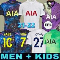 Hommes + Kids 21 22 Kane Son Bergwijn Ndombele Soccer Jerseys 2021 2022 Tottenham Dele Jersey Shirt de football Lo Celso Morgan Bale Lamela Lucas 4th Højbjerg Loris