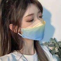 Fêmea Máscara Xia Descartável KF Versão Coreana Net Vermelho 94 Face Pequena Godds Moda Gradient Cor