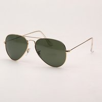 Polarized Pilot sunglasses aviation mens driving sun glasses women popular sunglasses with brown leather case, cloth, and retail accessories