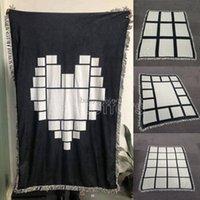 Decken Sublimation Wandteppiche Wärmevliesdecke Wärmeabdruck Stoff Matte DIY Leerer Teppich 9 15 20 Gitter Plaid 125 * 150 cm