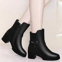 Boots Elegant Women's Ankle Short Boot Lady Winter High Heel Shoes Wedding Party Formal Dress England Style