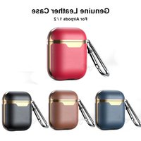 Real leather For Airpods case Oil wax First layer Beef leather TPU Inner shell Headphones Protective cover For AirPods protection