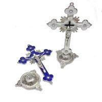 매실 금속 십자가 예수님 그리스도 고난 동상 교회 아이콘 장식품 사무실 홈 종교 용품