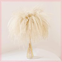 30pcs lot Natural Dried Flower Reed Bouquet For Home Decor Small Pampas Grass Wedding Dry Phragmites Bunch Decorative Flowers & Wreaths