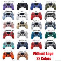 PS4 진동을위한 블루투스 무선 컨트롤러 진동 조이스틱 게임 패드 게임 핸들 컨트롤러 소매 상자가있는 로고가없는 스테이션 조이스틱