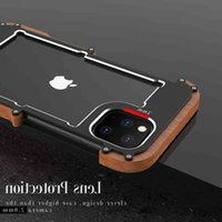 XS، R-JUST-JUST-iPhone قذيفة الألومنيوم المعدنية، XR صدمات خشبية، ومناسبة ل 13، 12، 11 برو ماكس، 8، 7، 6 زائد نماذج لطيفة