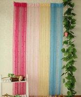Behandlungen Gardentreatments Textilien Home Gardentassel Kristallperlen Vorhang Zimmer Tür Teiler Sheer Panel Vorhänge Fenster Valance Hochzeit