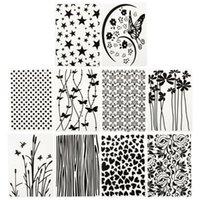 10 sztuk Embossing Folder DIY Karty Papier Craft Scrapbooking Dekoracji Szablony Narzędzia